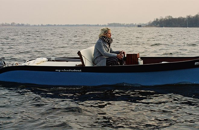 Leichtes Elektroboot zum Einslippen