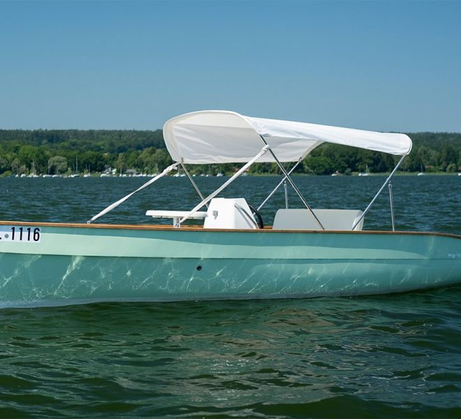 My-Junior Elektroboot mit Sonenschutz - guter Preis