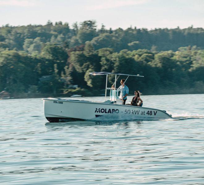 My-Elégance T Speedelektroboot für Wasserski