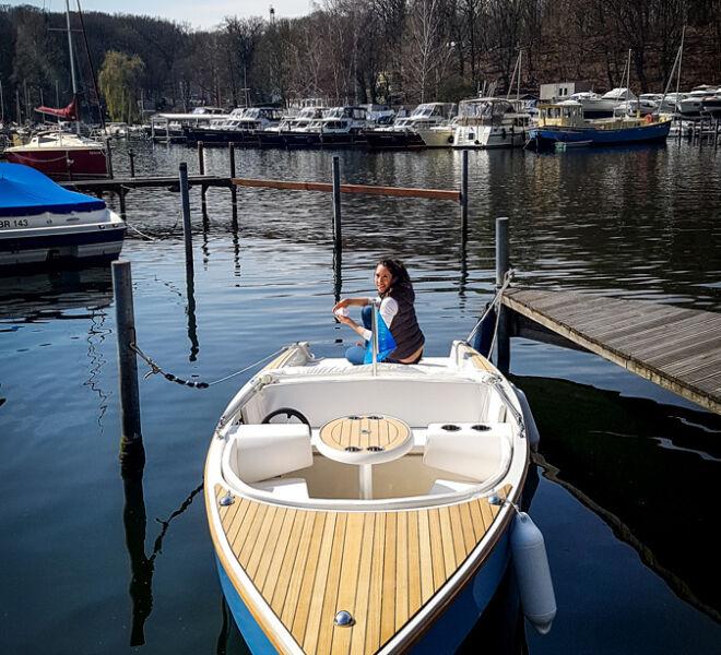 My-Electroboat My Tramonto am Steg